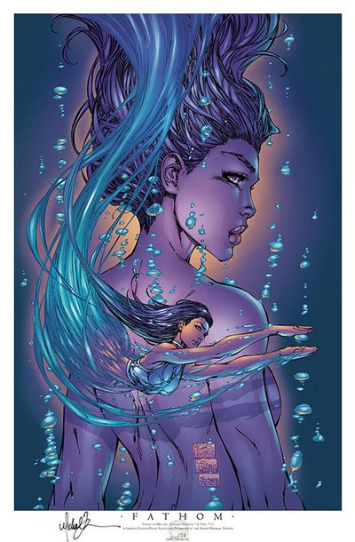 fathom ; probably the best drawn comics of all time. R.I.P. Michael Turner