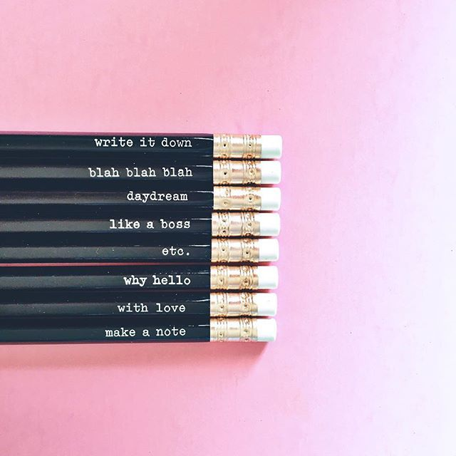 How cute are these pencils from Target?! Gotta love the dollar section!