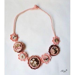 Crochet necklace/Háčkovaný Náhrdelník Isabela