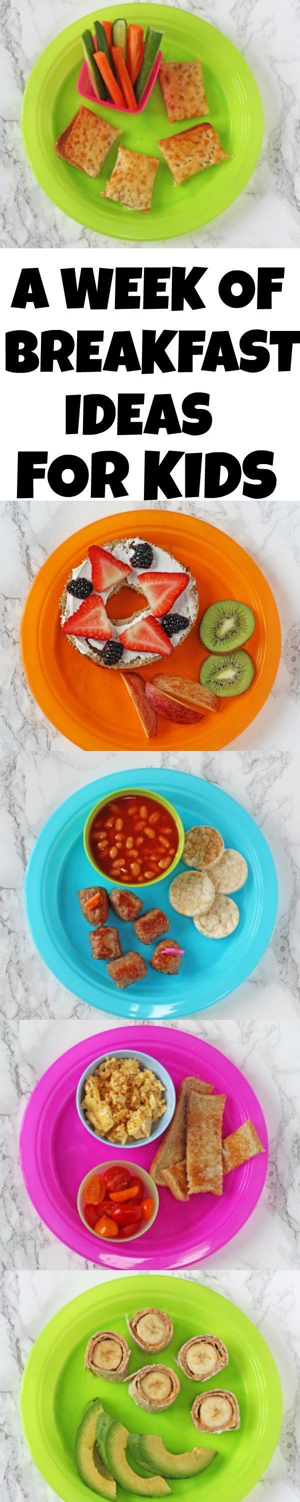 Thinking of quick, easy and healthy breakfast recipes for kids that aren't toast or cereal can be exhausting! But here's seven simple ideas to last a whole week that the kids are sure to love!
