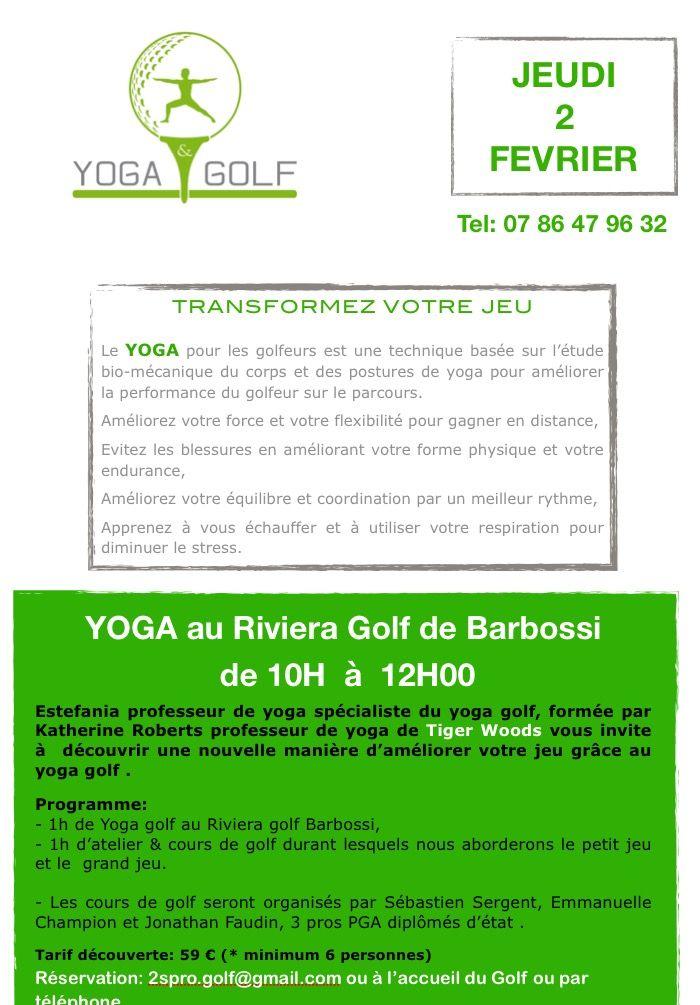 Matinée Yoga et Golf au Riviera Golf de Barbossi  Le 2 février 2017