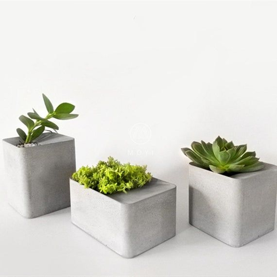 Concrete Flower Pot Mold Square Candle Holder Silicone Mould Handmade Home Decorating Moulds In 2020 Concrete Succulent Planters Flower Pots Cement Flower Pots