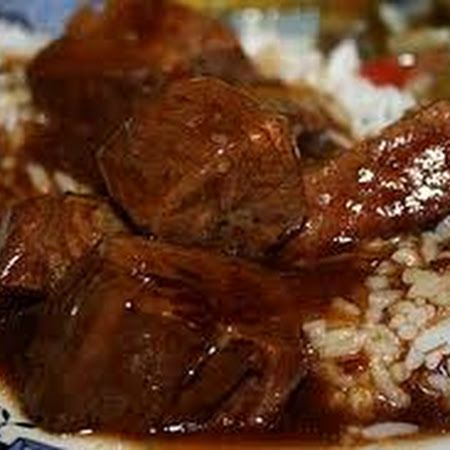 Beef Tips on Rice - Pressure Cooker