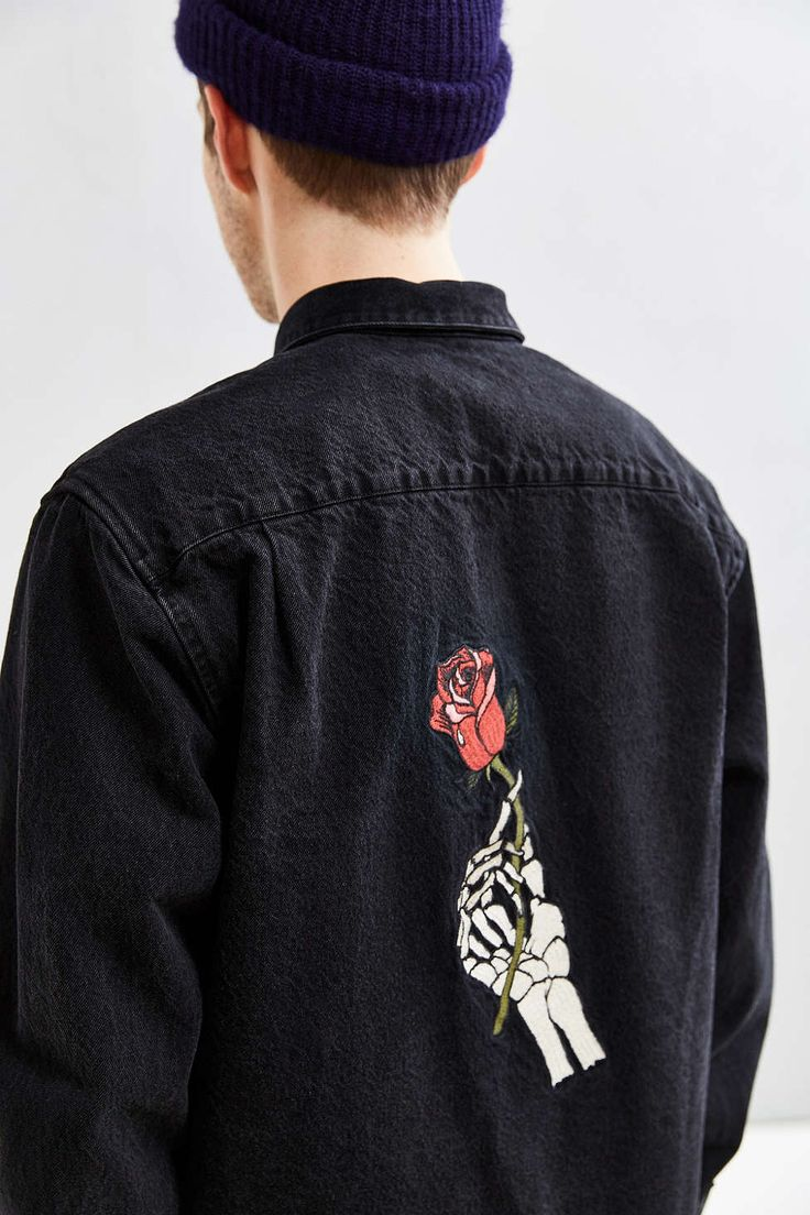 UO Customized Rose Souvenir Button-Down Shirt - Urban Outfitters