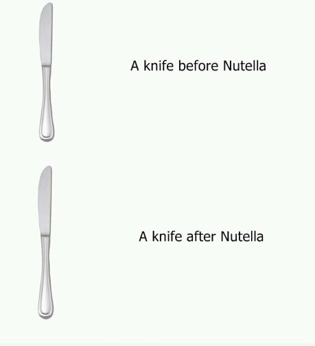 Nutella -- Bild Dir Deine eigene Meinung. Ich find's gut.