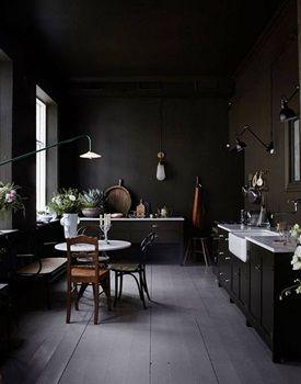 1000 idee n over zwarte muren op pinterest zwart geschilderde muren muren met een zwart - Chique keuken ...