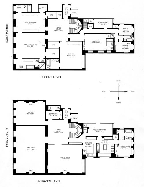 Photos 6 7a 740 park avenue jackie bouvier kennedy for Rich house plans