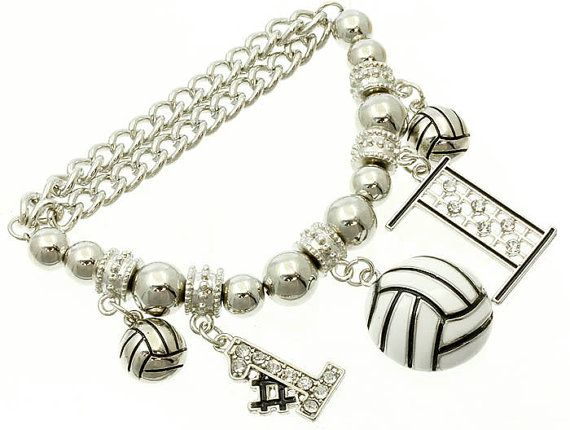 VolleyBall Charm Metal Bracelet by GloSpaBoutique on Etsy, $10.00