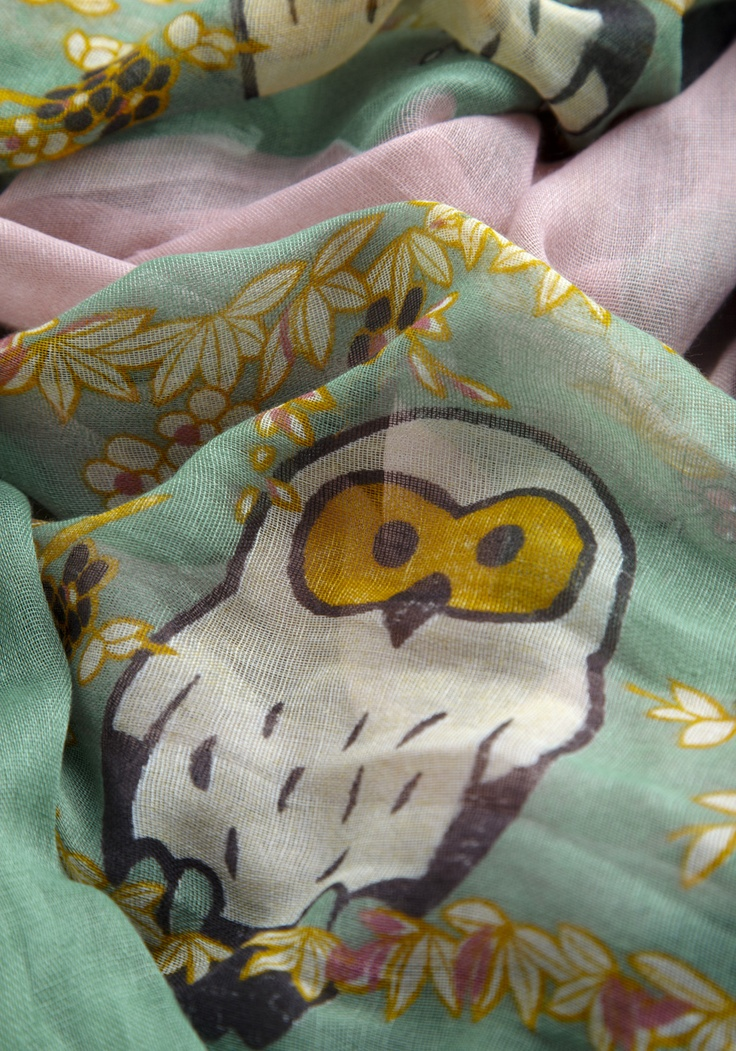 Too Hoot For Words Scarf -@Lindsay Dunn, I need this!! Or maybe we all do! lol