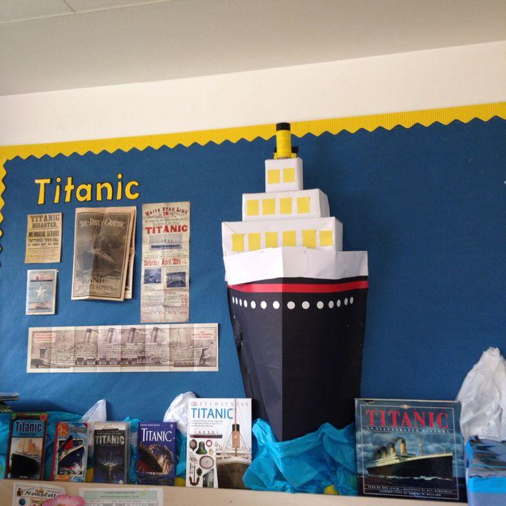Titanic display bulletin board