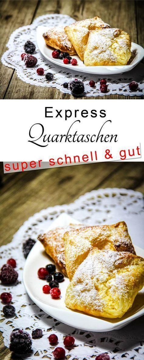 Quarktaschen Rezept Lecker Essen Kuchen Geback Und Blatterteig