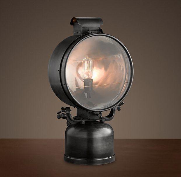 .: Lights, Restoration Hardware, British Railway, Flood Lamps, Tables Lamps, Products, 1950S British, Design, Railway Flood