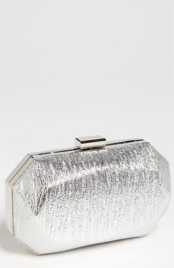 $48, Hexagonal Clutch Silver by Tasha. Sold by Nordstrom. Click for more info: http://lookastic.com/women/shop_items/123851/redirect
