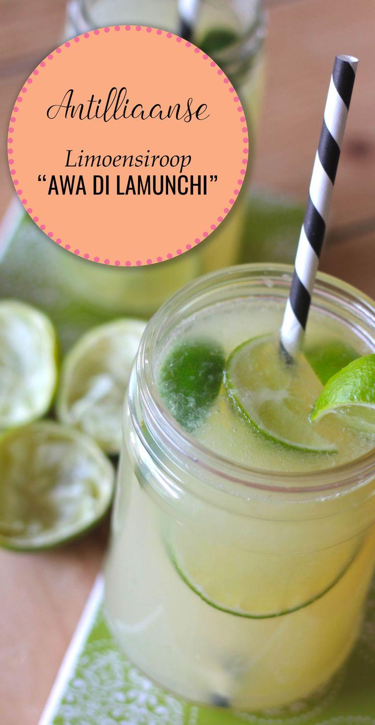 De lekkerste verfrissende AWA DI LAMUNCHI (Antilliaanse limoensiroop) - het perfecte drankje om mee af te koelen!