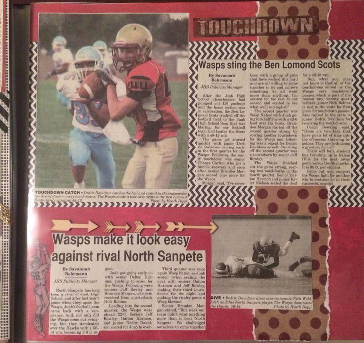 Senior scrapbook. Sports scrapbook. Scrapbook with