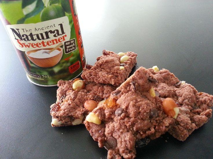 Kiwi Cakes: Sugar-Swap Chocolate Scroggin Bars - from Kiwicakes test kitchen