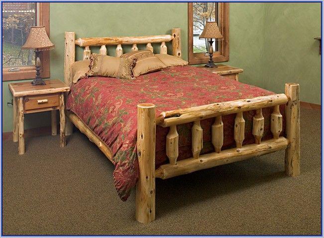 Pine Log Bedroom Furniture Sets Modrox Charming   knotty ...