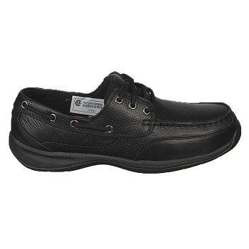 Rockport Works Men's Sailing Club Medium/Wide Steel Toe Boat Shoes (Black) - 11.0 M