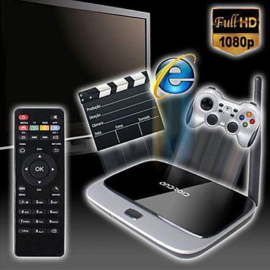 x6 android 4.4 smart tv-boksen (wifi, blå-tann, lan, usb, hdmi, tf) – NOK kr. 482