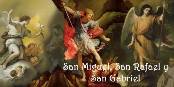 Los Santos Arcángeles, mensajeros de Dios. Protegenos del peligro, de la enfermedad, y danos sabiduria al hablar.