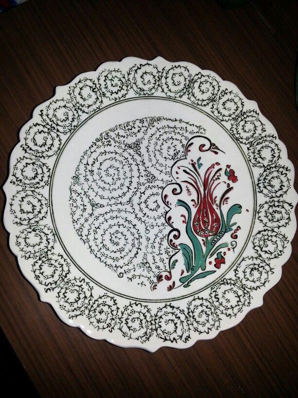 Hand painting çini plate 27 cm custom design 100 $