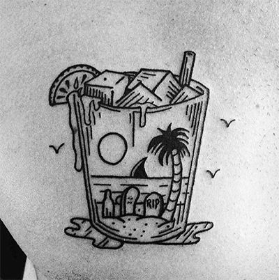 Tropical Drink Tattoo