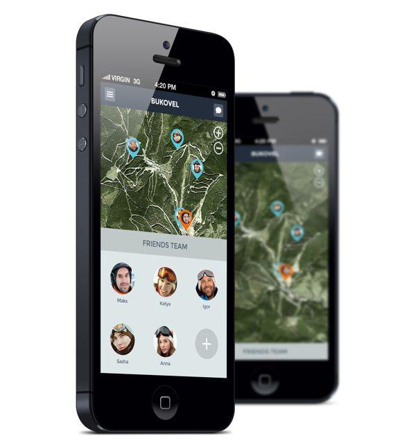 Teamride - Google Glass App by Eugene Maksymchuk, via Behance