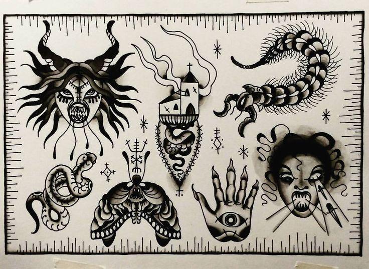++DÍA DE LOS MUERTOS++Esta Semana FLASH a precio especial Halloween x SARA @sara_sta.demonia_tattoo!++ Interesados y mas info sara@stademonia.com! #StaDemonia #Tattoo #Barcelona #Sara #OldSchool #Tradicional #DiaDeLosMuertos #Halloween #SatanicInsects #Payback
