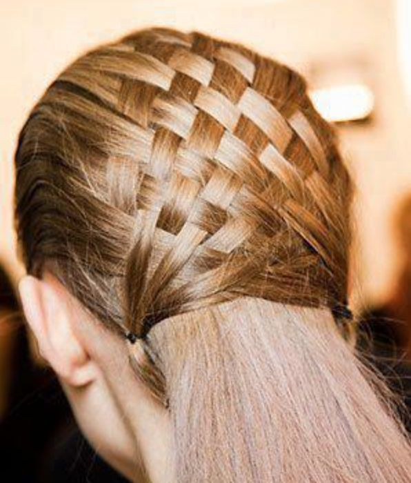 If you can do it with hair, we can do it with leather, interesting shades #cleverideas