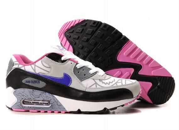 https://www.kengriffeyshoes.com/nike-air-max-90-grey-pink-white-black-p-772.html NIKE AIR MAX 90 GREY PINK WHITE BLACK Only $70.95 , Free Shipping!