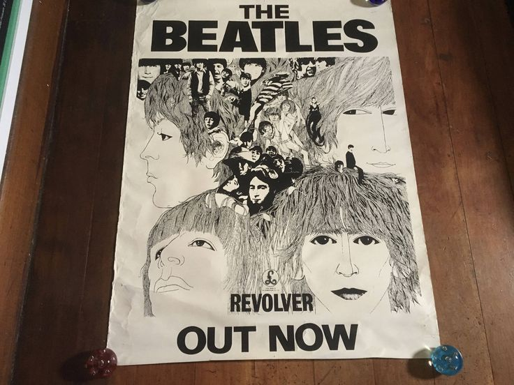 The Beatles Revolver 1966 Parlophone Capitol Records Silkscreened Original Rare Vintage Music Poster by RockPostersTreasures on Etsy