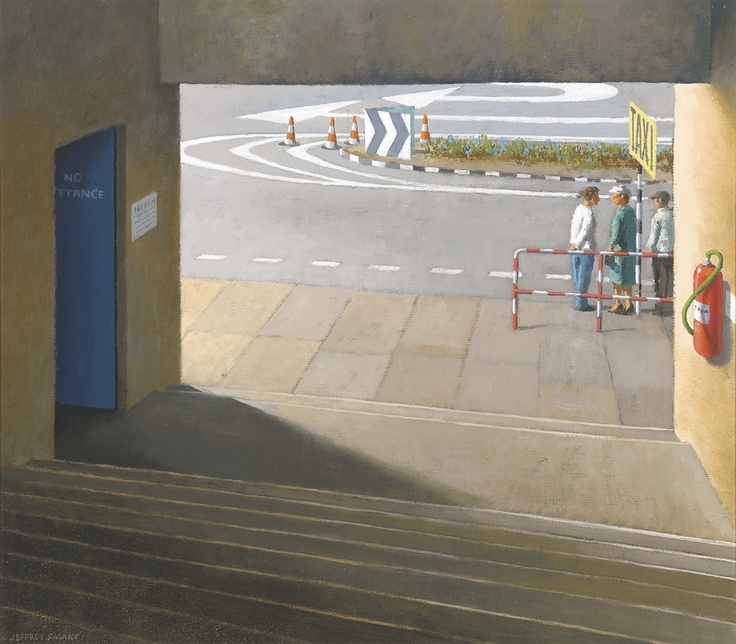 JEFFREY SMART - Study for Taxi Stand, Brisbane Art Gallery