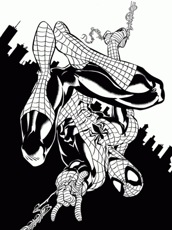 spectacular spiderman coloring pages - photo#36