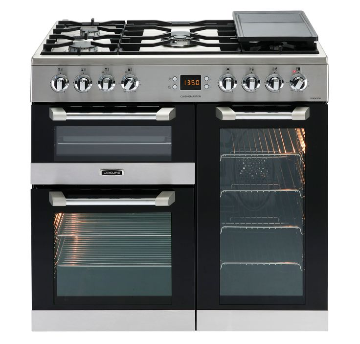 Leisure Duel Fuel Cuisinemaster Range Cooker, Stainless Steel Glass & Stainless Steel | Departments | DIY at B&Q