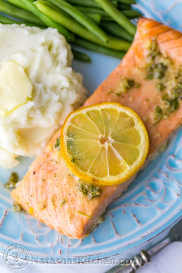 Our Favorite Baked Salmon Recipe – juicy, flaky and super delicious. A 5-Star recipe!! | natashaskitchen.com