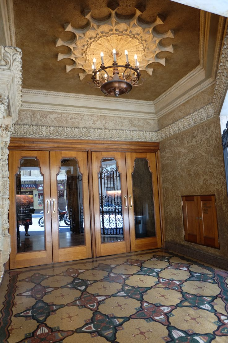Entrance to the Regent Theatre Ball Room in Collins St.This theatre narrowly avoided being demolished in the 1970s. It's now the last remaining fully intact theatre of the Regent picture palace franchise in Australia.