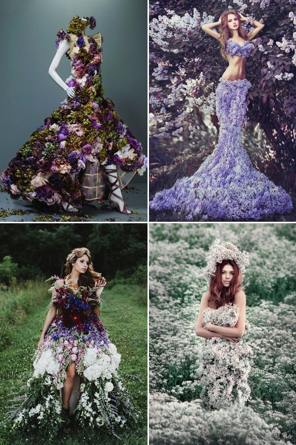 real flower jewelry and dresses  37 beautiful wearable fresh flower ideas