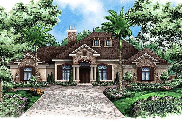 House Plan 1018-00064 - Mediterranean Plan: 3,242 Square