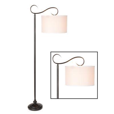 Downbridge metal scroll floor lamp floor lamp for Metal scroll floor lamp