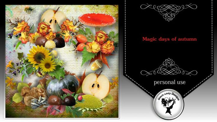 Magic days of autumn Clusters by Black Lady Designs - $1.75 : ScrapBird!, source for digital scrapbooking