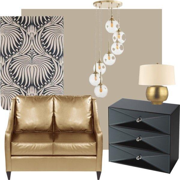 FB Lotus by petra-hus on Polyvore featuring interior, interiors, interior design, home, home decor, interior decorating, Howard Elliott, DwellStudio, Arteriors and Farrow & Ball