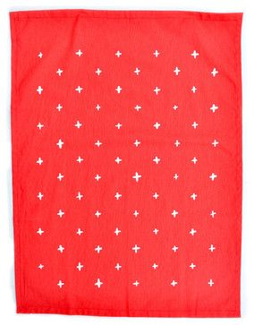 Plus Print Tea Towel, Poppy - contemporary - dishtowels - LEIF
