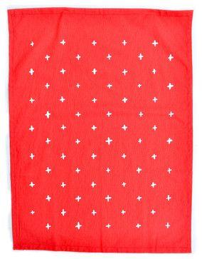 Plus Print Tea Towel, Poppy - contemporary - dishtowels - LEIF