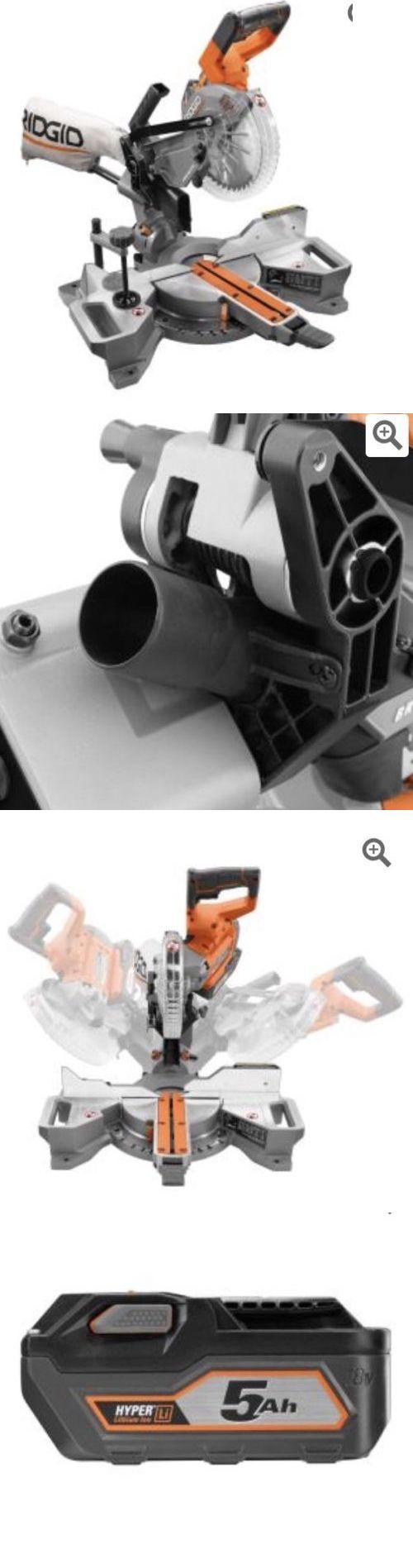 Miter and Chop Saws 20787: Ridgid R48607k 18V 7-1 4 Cordless Brushless Dual Bevel Sliding Miter Saw Kit -> BUY IT NOW ONLY: $300 on eBay!