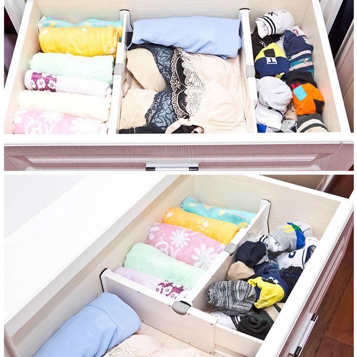 Retractable Adjustable Stretch Plastic Drawer Divider Storage Partition Board