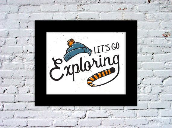 Calvin and Hobbes Let's Go Exploring Color Print by quietboystudio, $5.00