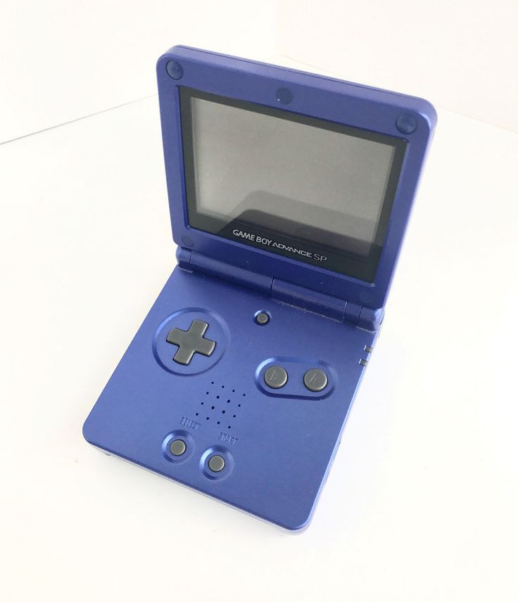 Nintendo Handheld Game Boy Advance SP Cobalt Blue Missing Cord Not Tested #Nintendo