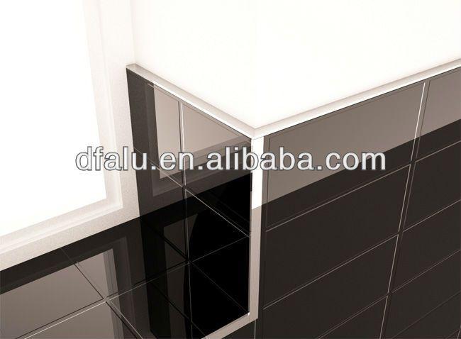 L Shape Gold Tile Edge Trim Aluminum Straight Edge Tile Trim