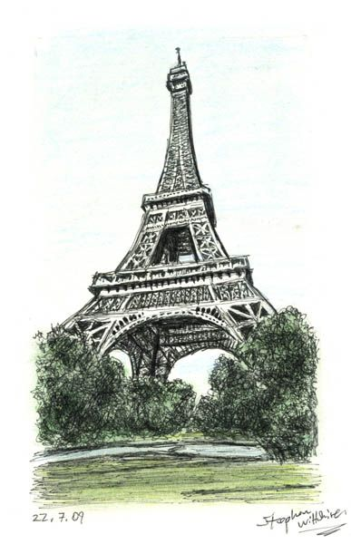 The Eiffel Tower, Paris - drawings and paintings by Stephen Wiltshire MBE