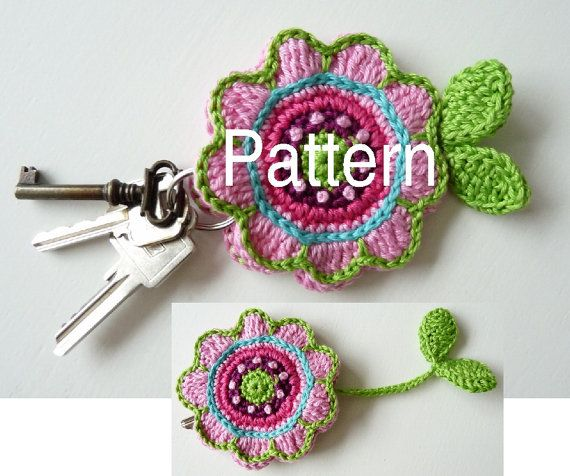 Pattern for Flower Key Cover by TeenyWeenyDesign on Etsy, $5.00